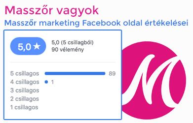 Masszőr Marketing FB értékelések